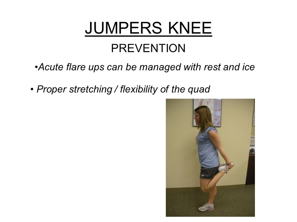 Acute flare ups can be managed with rest and ice