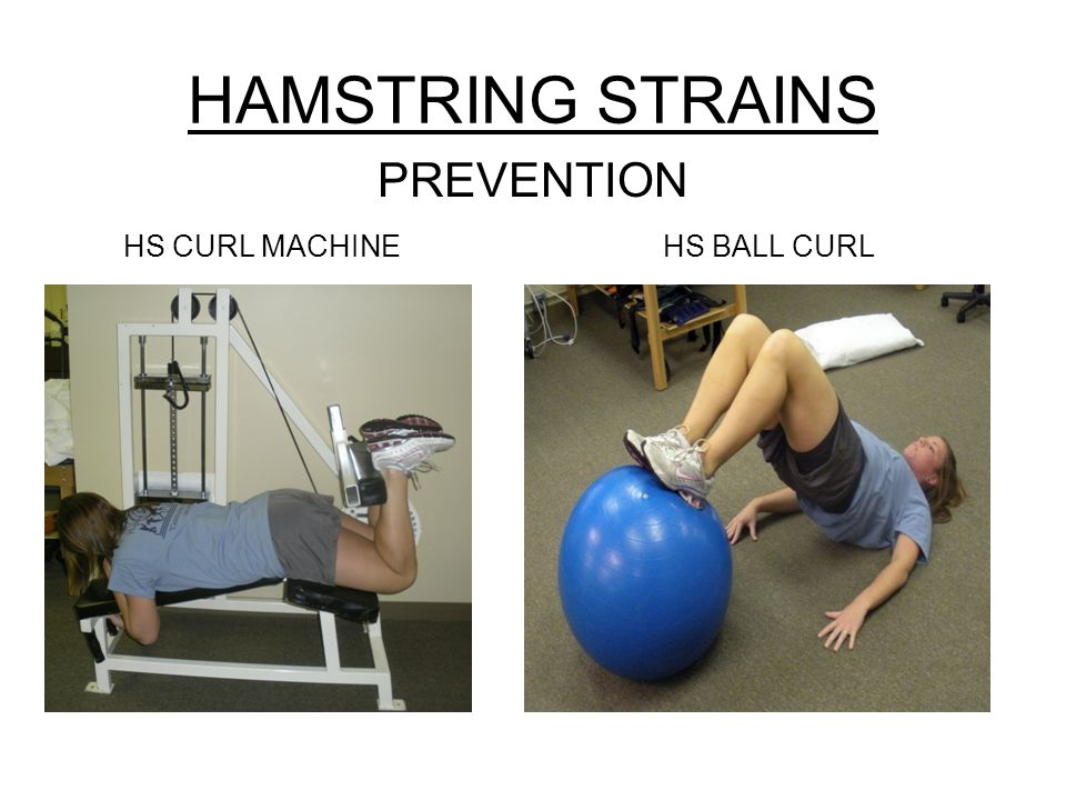 HAMSTRING STRAINS PREVENTION HS CURL MACHINE HS BALL CURL