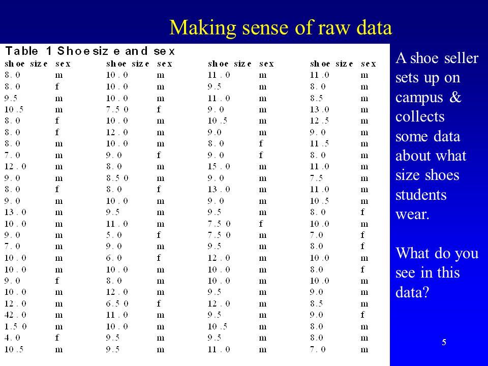 Making sense of raw data