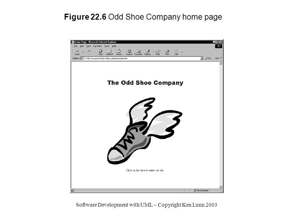 Figure 22.6 Odd Shoe Company home page