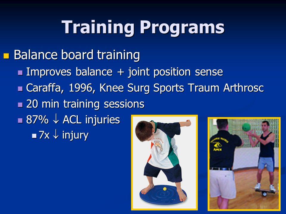 Training Programs Balance board training