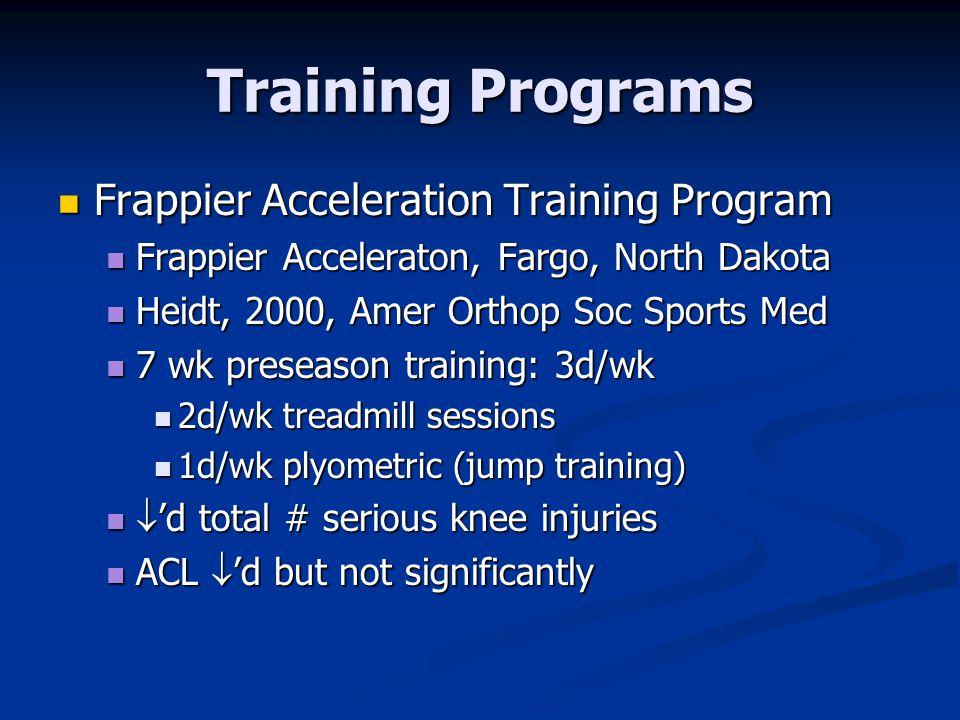 Training Programs Frappier Acceleration Training Program