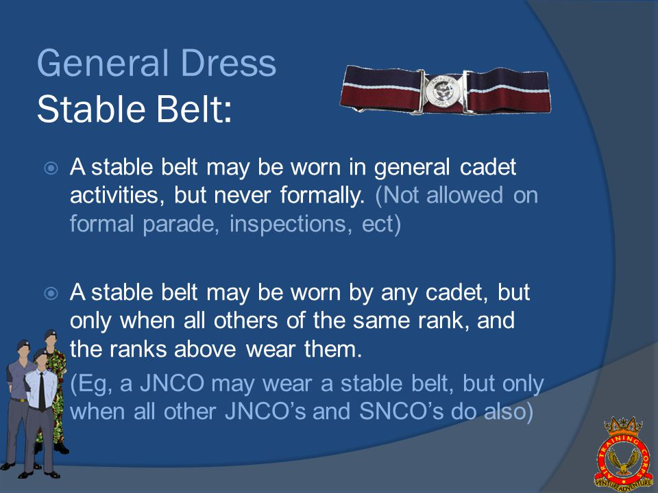 General Dress Stable Belt: