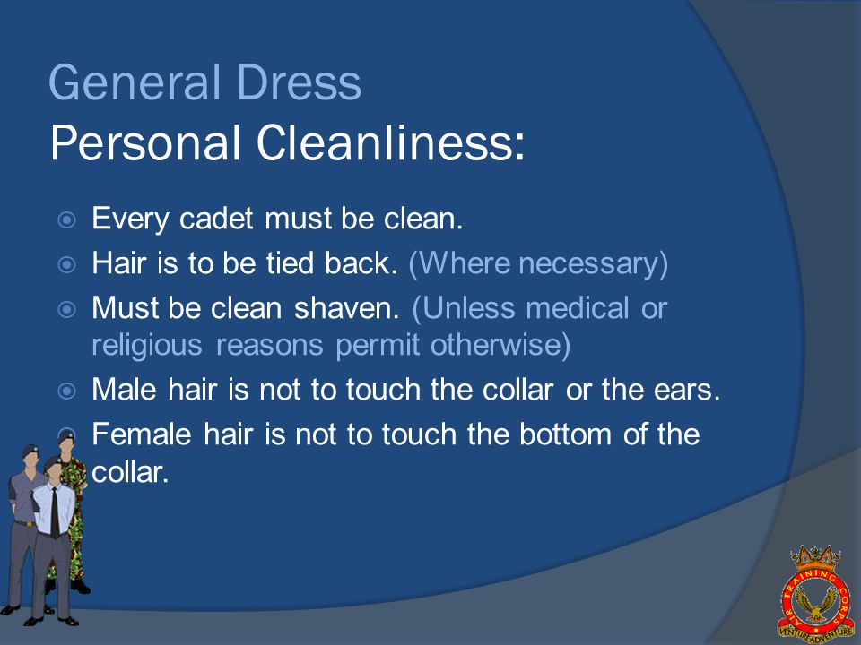 Personal Cleanliness: