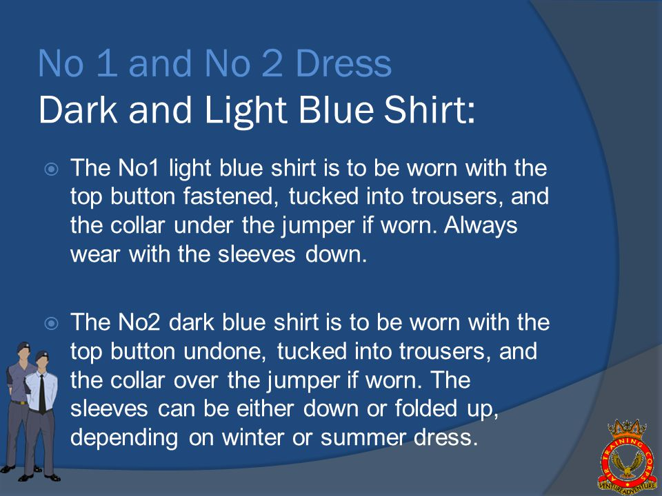 Dark and Light Blue Shirt: