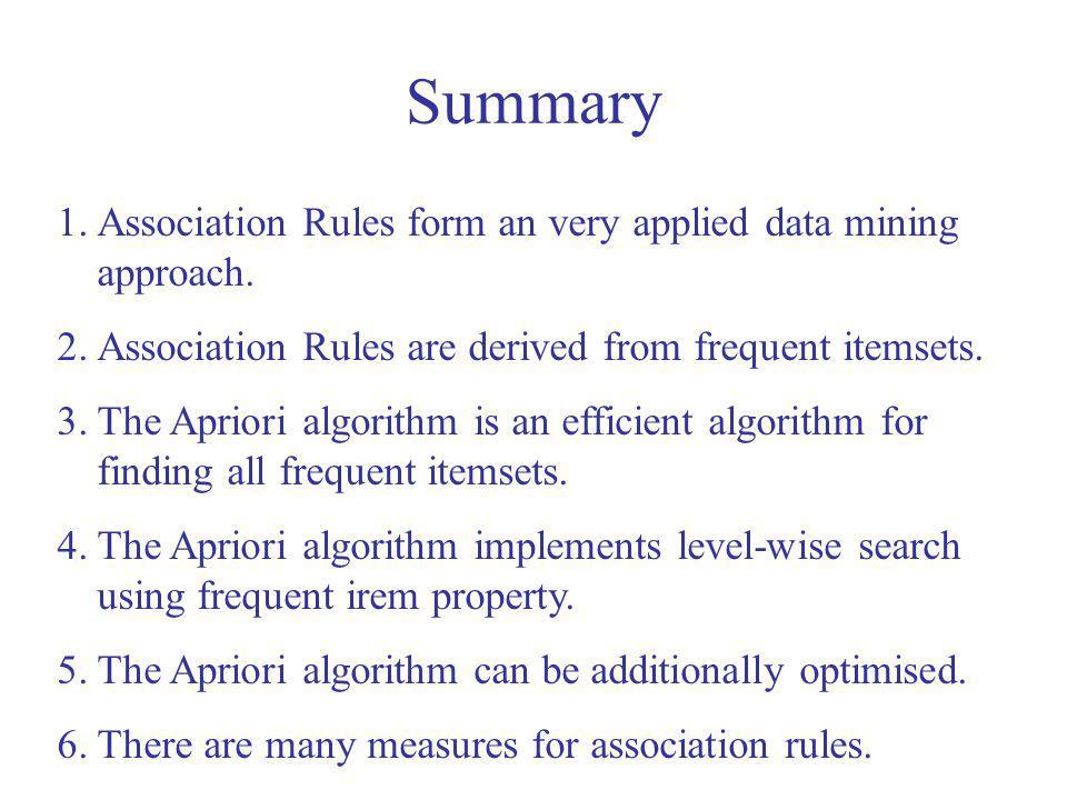 Summary Association Rules form an very applied data mining approach.