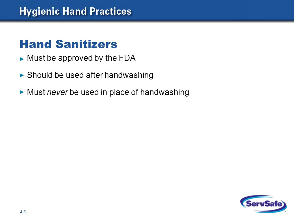 Hand Sanitizers Must be approved by the FDA