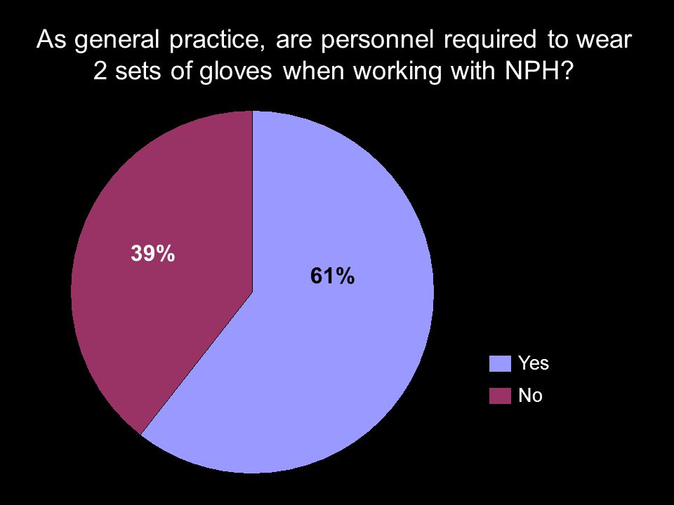 As general practice, are personnel required to wear 2 sets of gloves when working with NPH