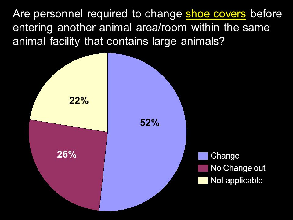 Are personnel required to change shoe covers before entering another animal area/room within the same animal facility that contains large animals