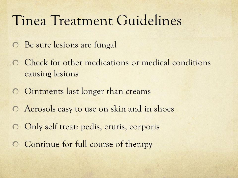 Tinea Treatment Guidelines