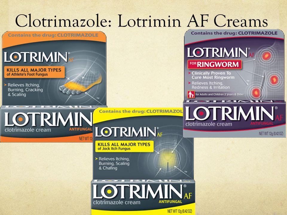 Clotrimazole: Lotrimin AF Creams