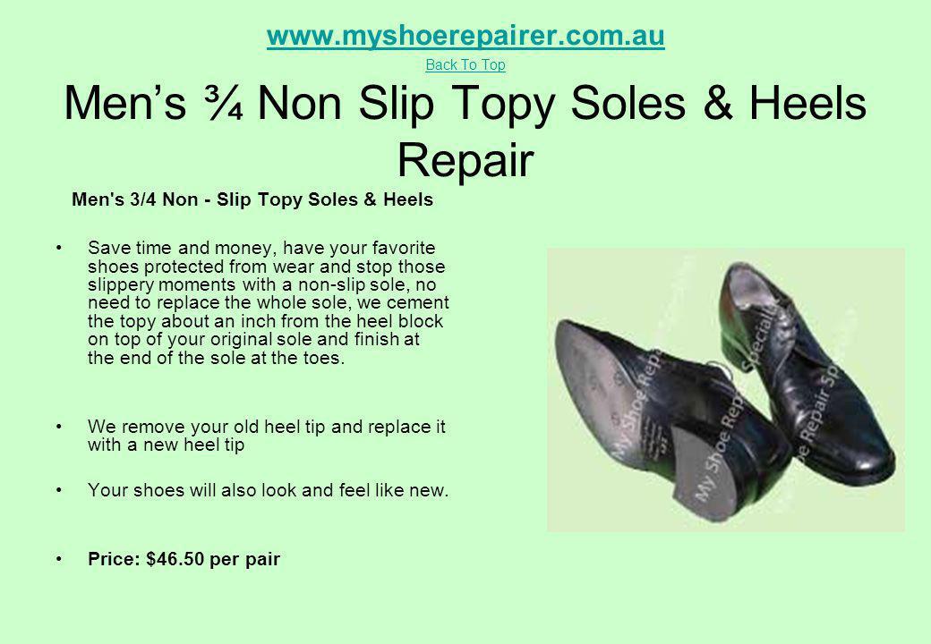 Men s 3/4 Non - Slip Topy Soles & Heels