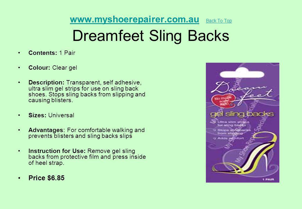 www.myshoerepairer.com.au Back To Top Dreamfeet Sling Backs