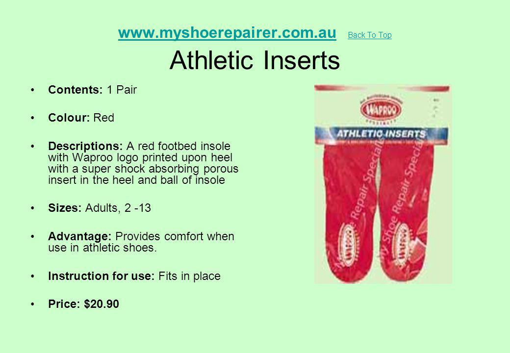 www.myshoerepairer.com.au Back To Top Athletic Inserts
