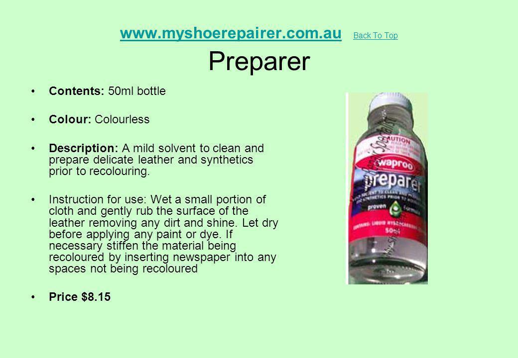 www.myshoerepairer.com.au Back To Top Preparer