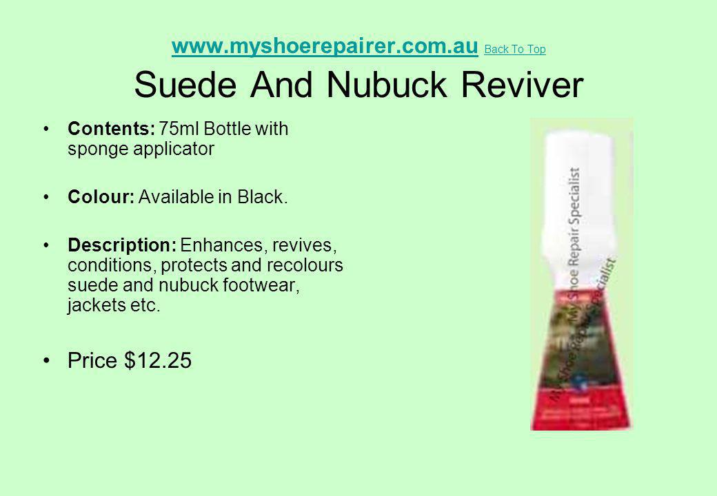 www.myshoerepairer.com.au Back To Top Suede And Nubuck Reviver