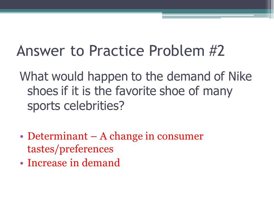 Answer to Practice Problem #2