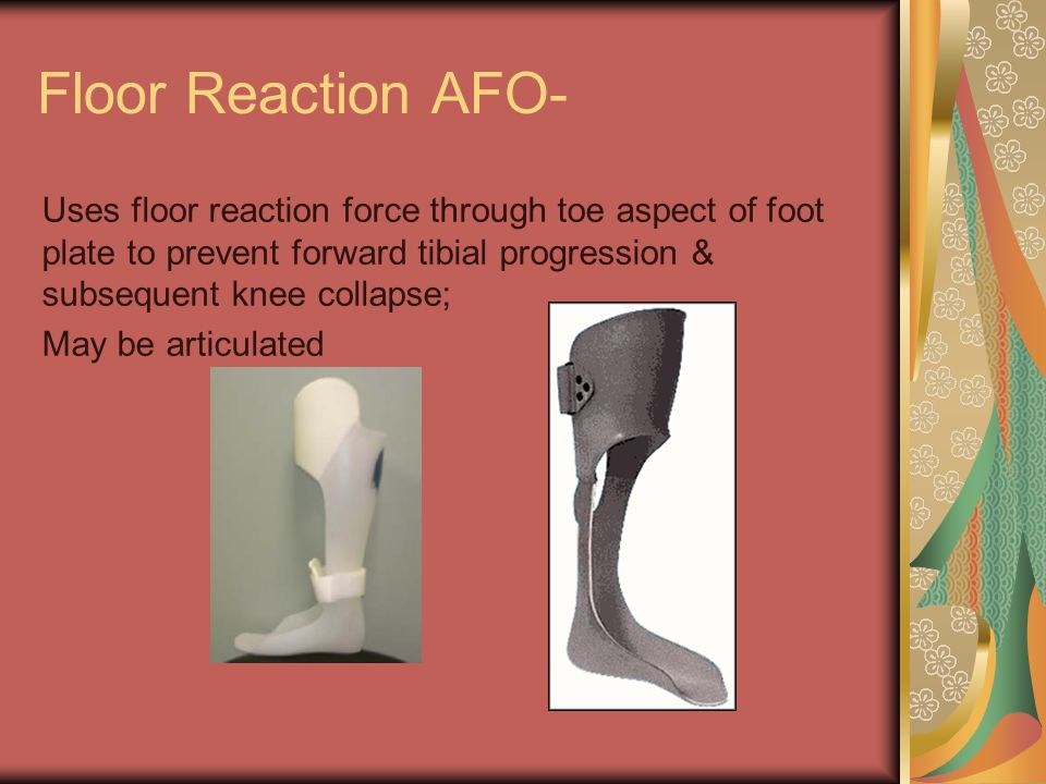 Lower limb orthosis by marwa abo el hawa assist lect for Floor reaction afo