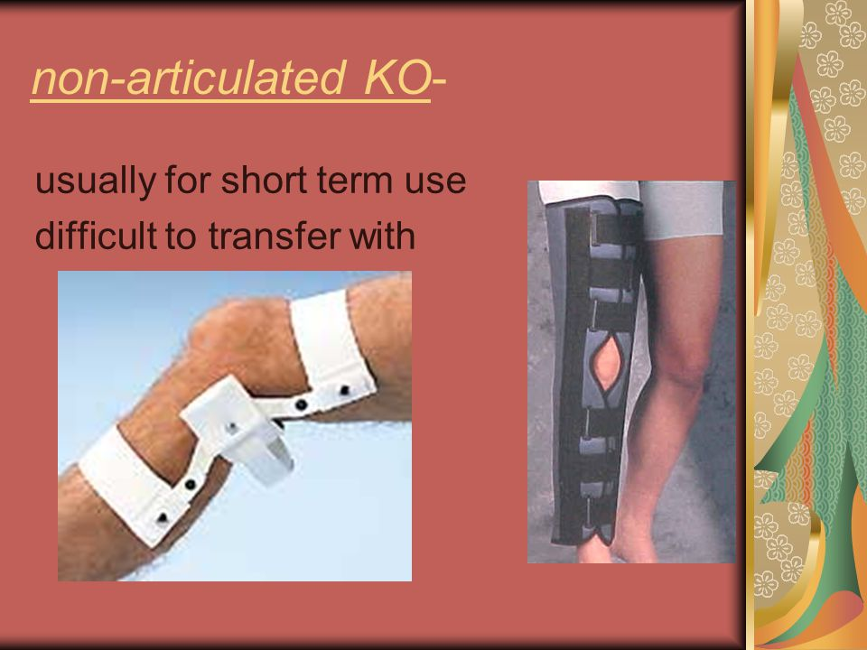 non-articulated KO- usually for short term use