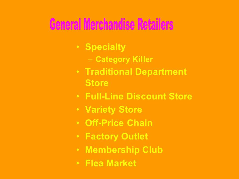General Merchandise Retailers