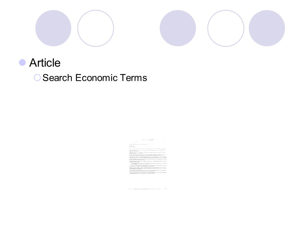 Article Search Economic Terms 25
