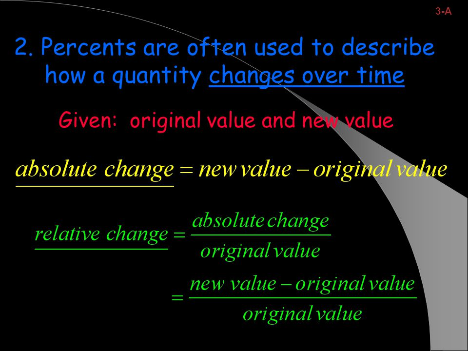 Given: original value and new value