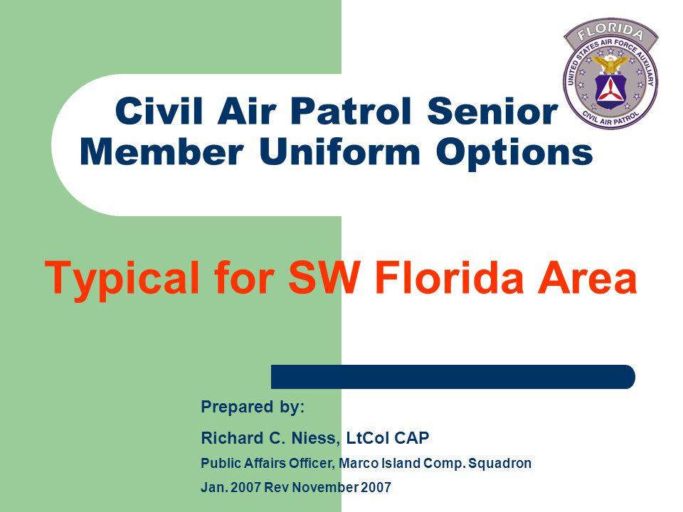 Civil Air Patrol Senior Member Uniform Options