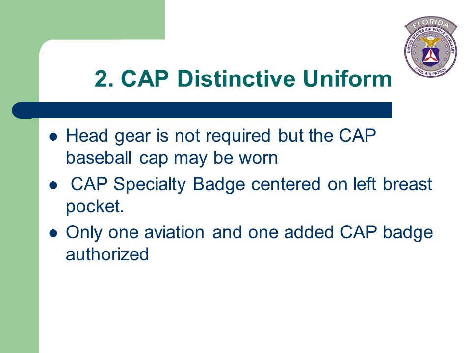 2. CAP Distinctive Uniform