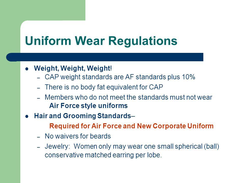 Uniform Wear Regulations