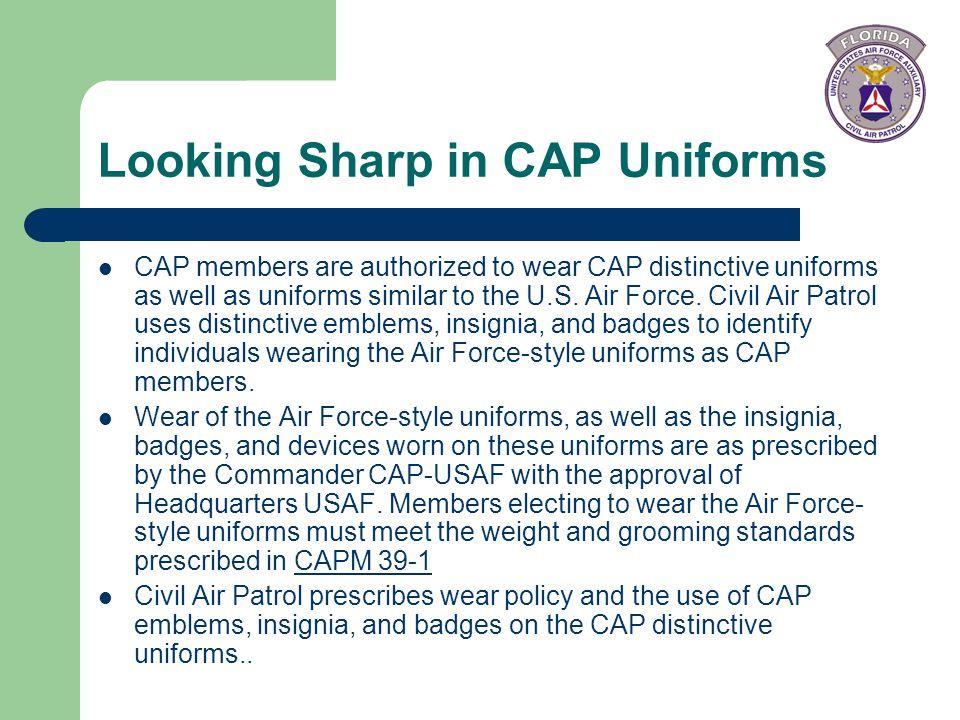 Looking Sharp in CAP Uniforms