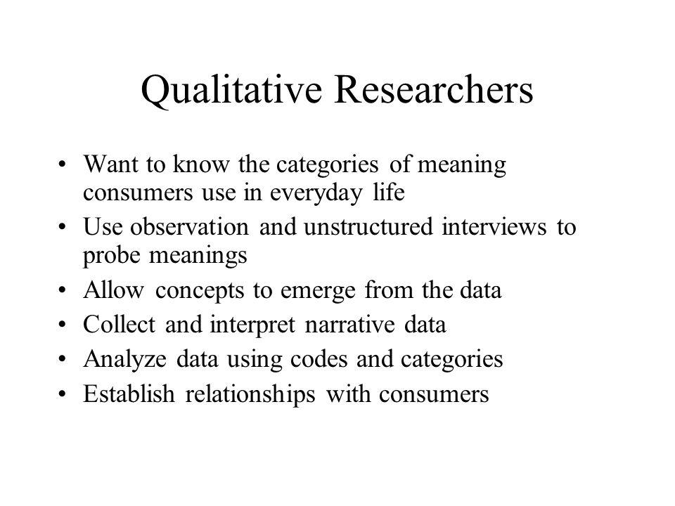 Qualitative Researchers