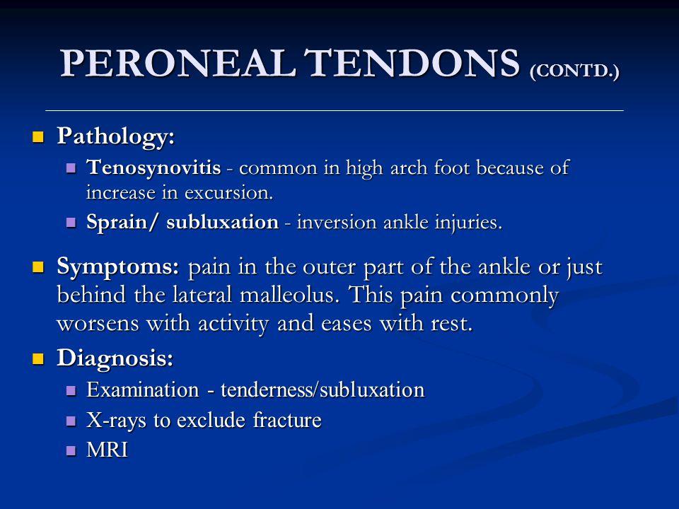 PERONEAL TENDONS (CONTD.)
