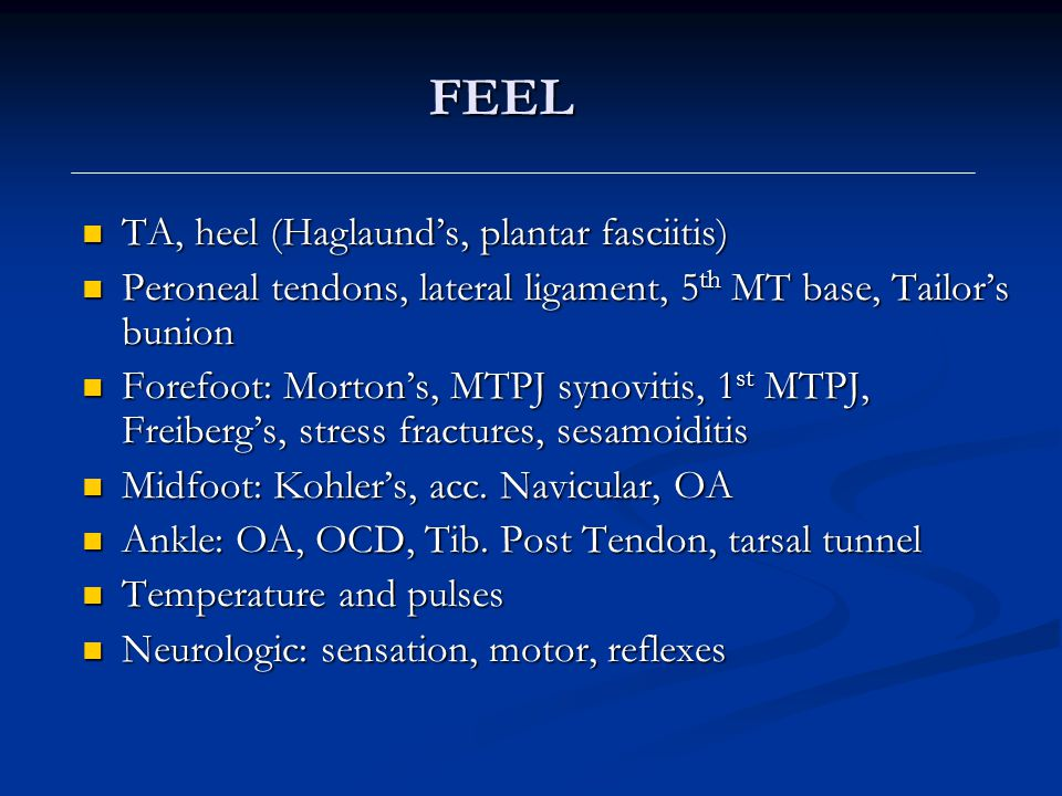 FEEL TA, heel (Haglaund's, plantar fasciitis)