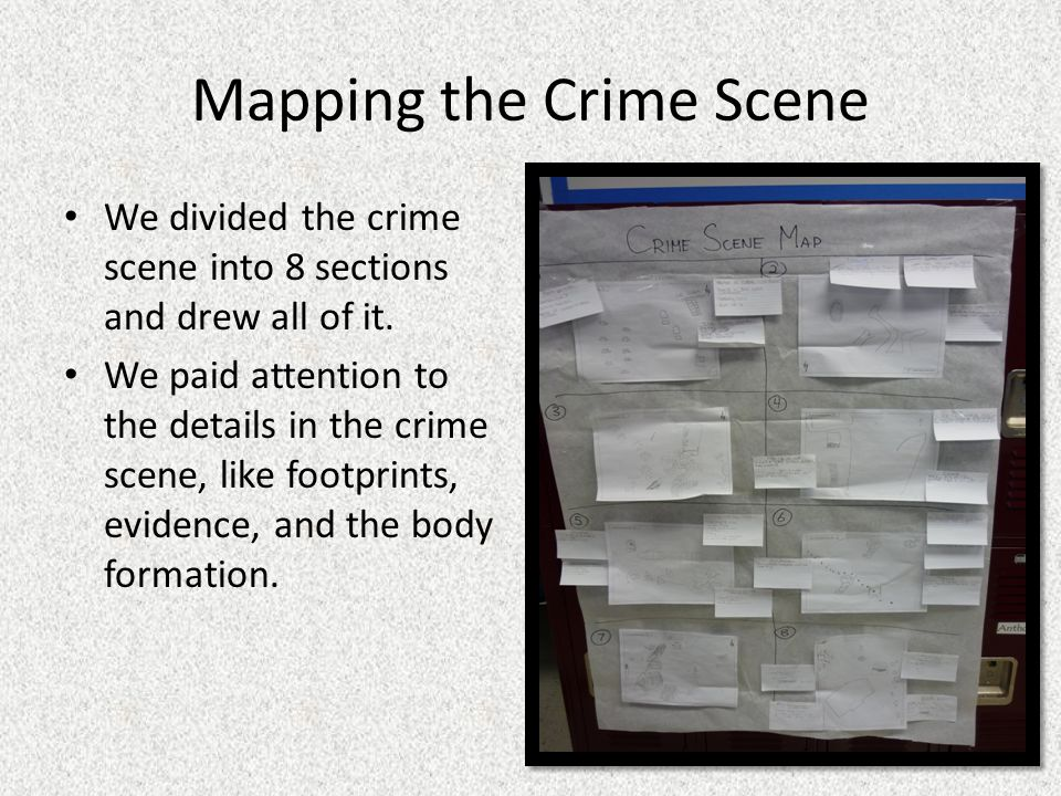 Mapping the Crime Scene