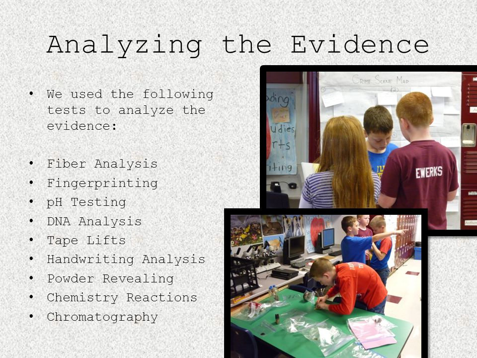 Analyzing the Evidence
