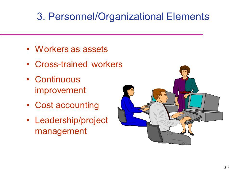 3. Personnel/Organizational Elements