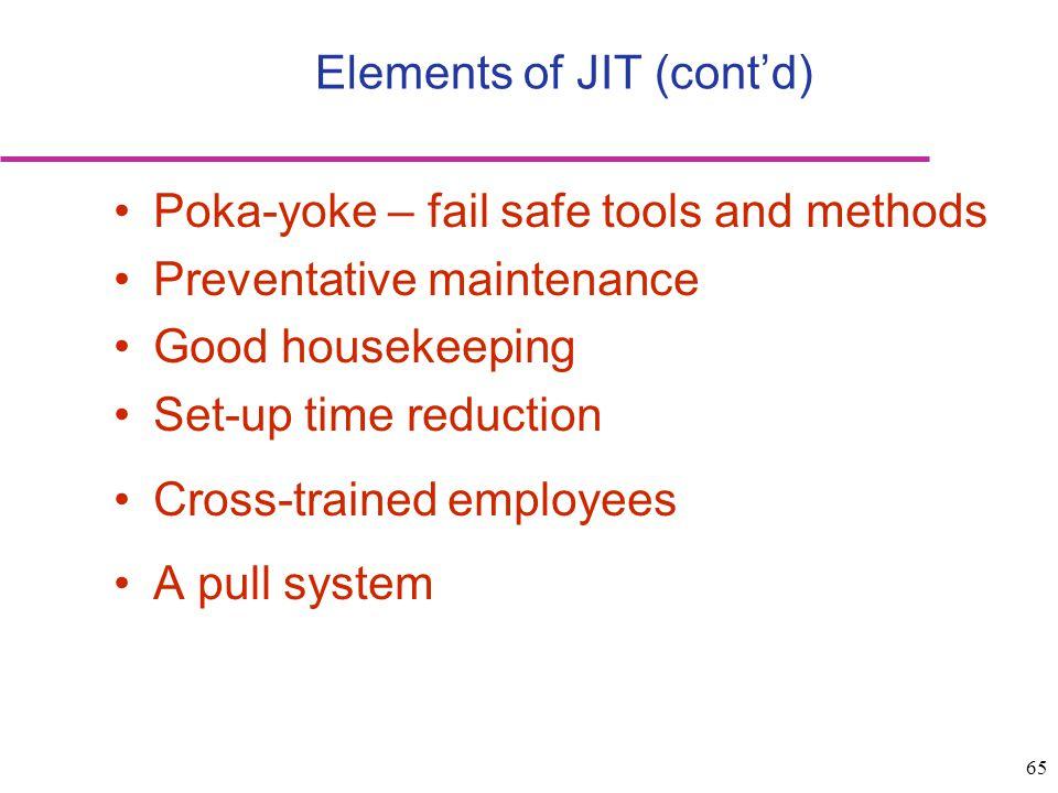 Elements of JIT (cont'd)