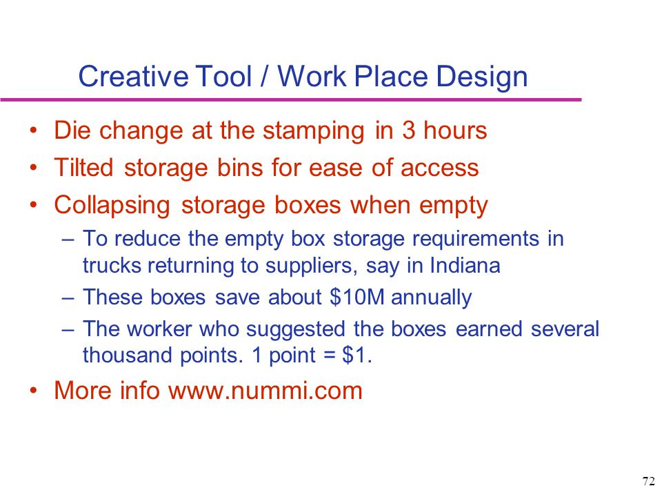 Creative Tool / Work Place Design