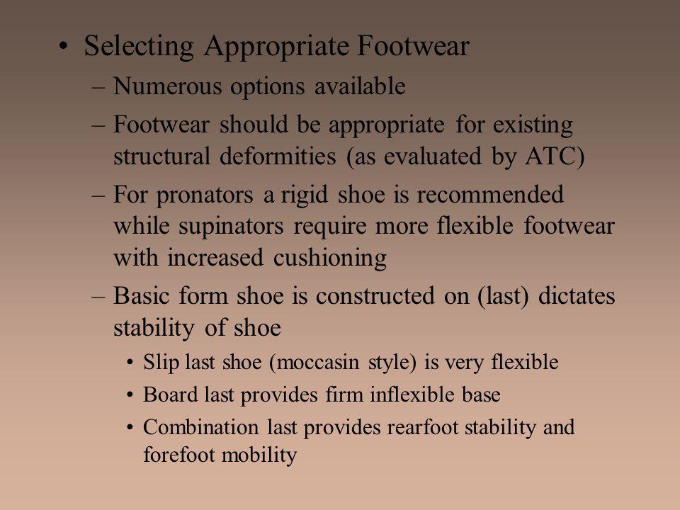 Selecting Appropriate Footwear
