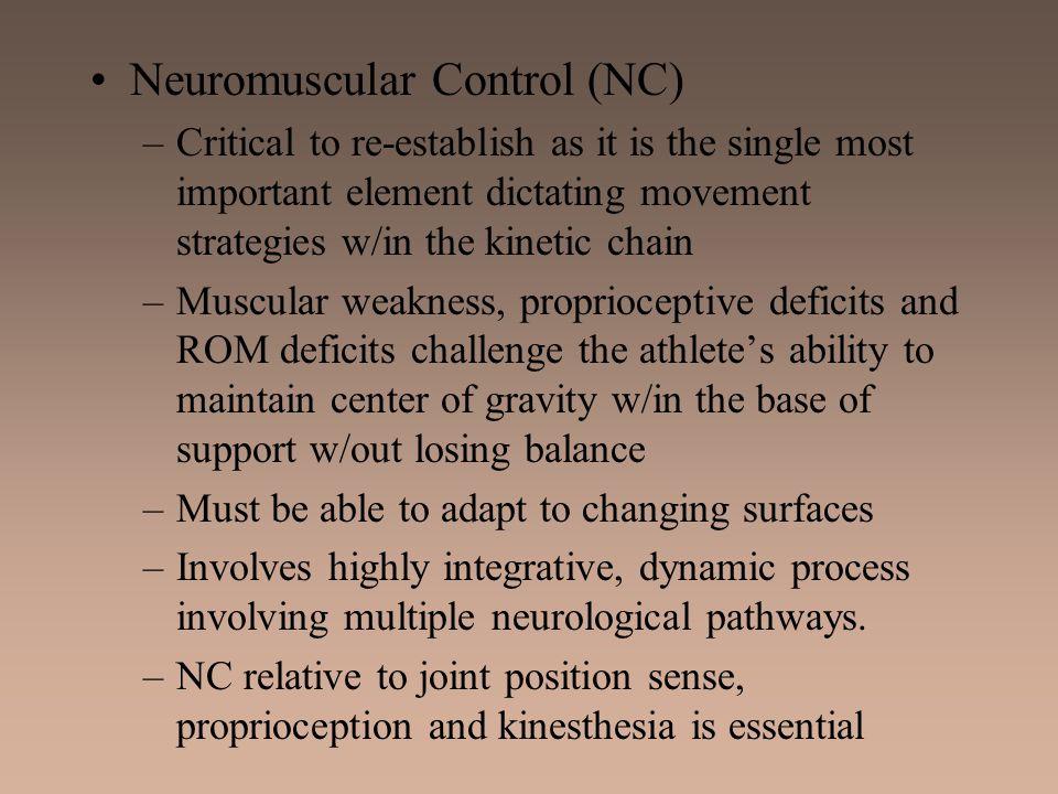 Neuromuscular Control (NC)