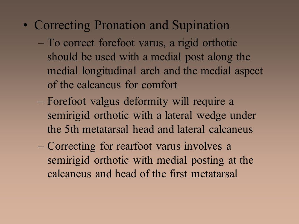 Correcting Pronation and Supination