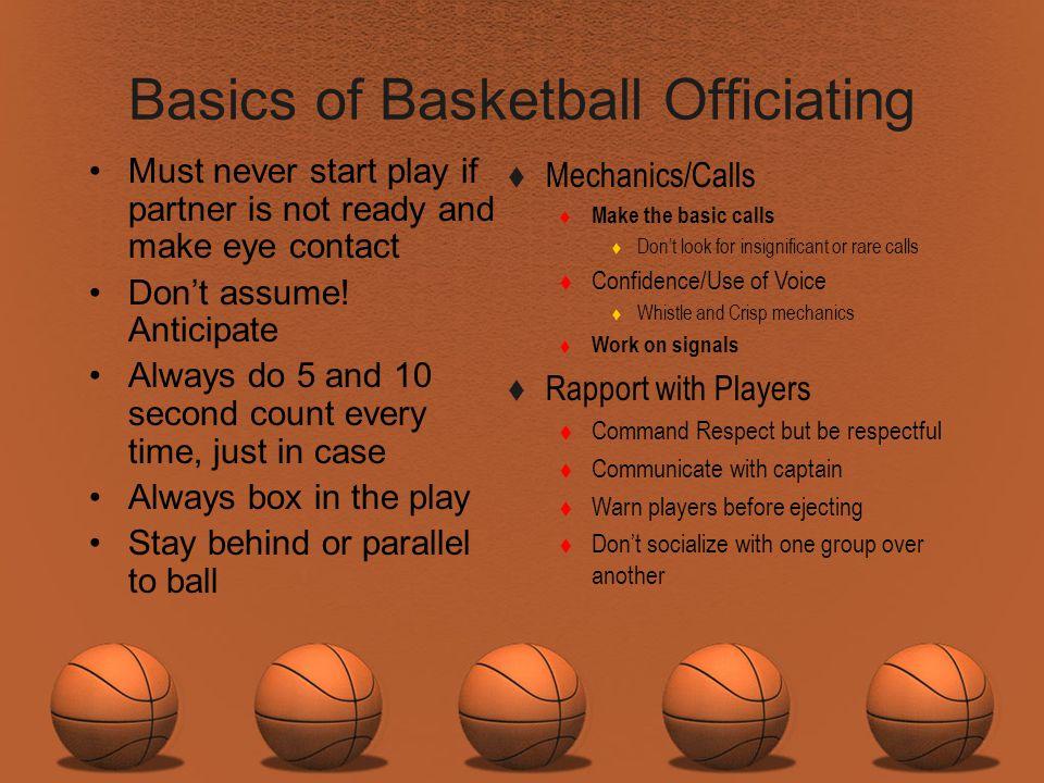 Basics of Basketball Officiating