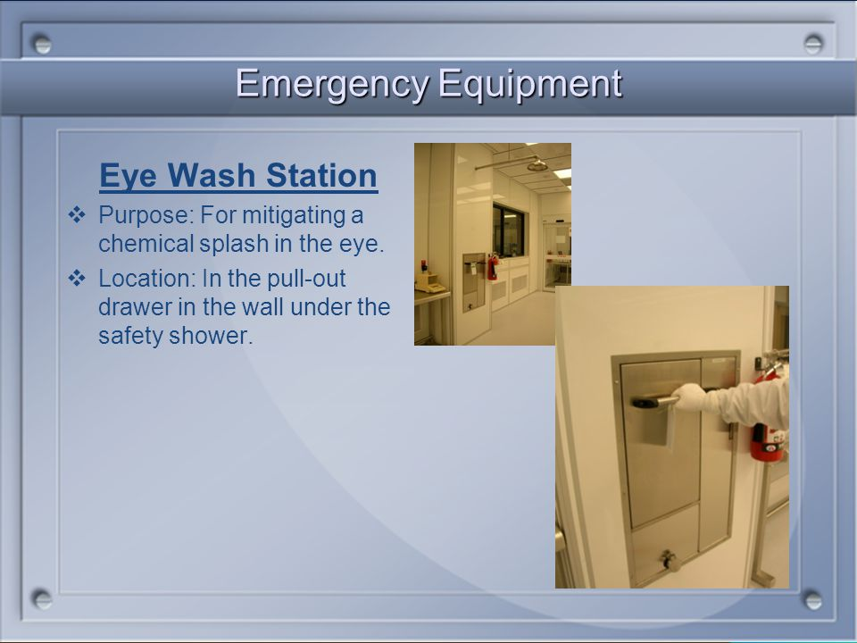 Emergency Equipment Eye Wash Station