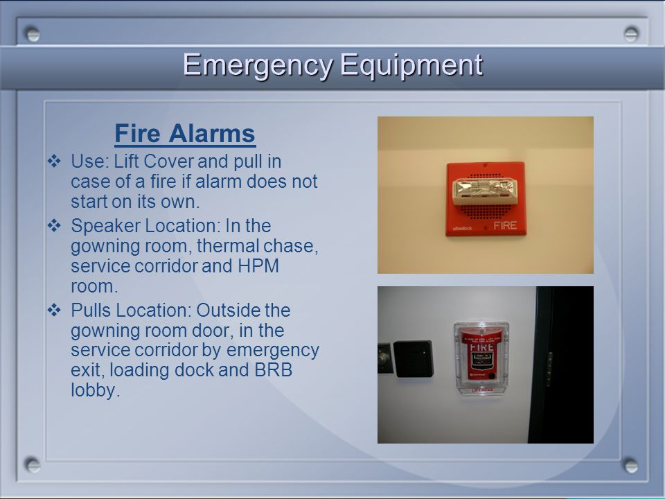 Emergency Equipment Fire Alarms