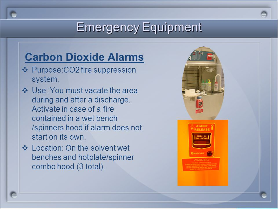 Emergency Equipment Carbon Dioxide Alarms