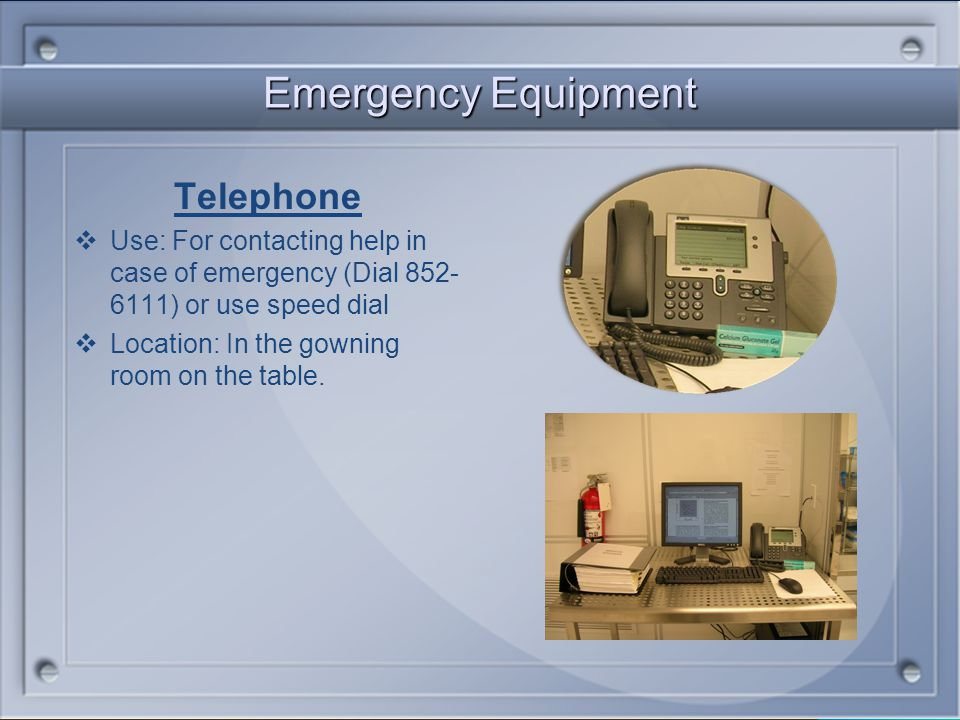 Emergency Equipment Telephone