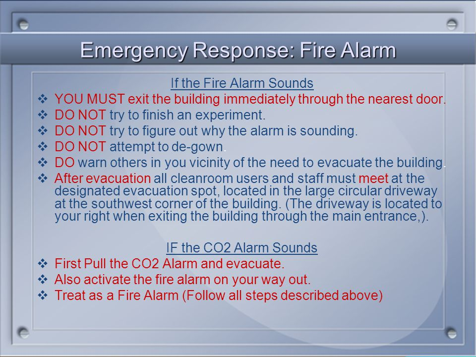 Emergency Response: Fire Alarm