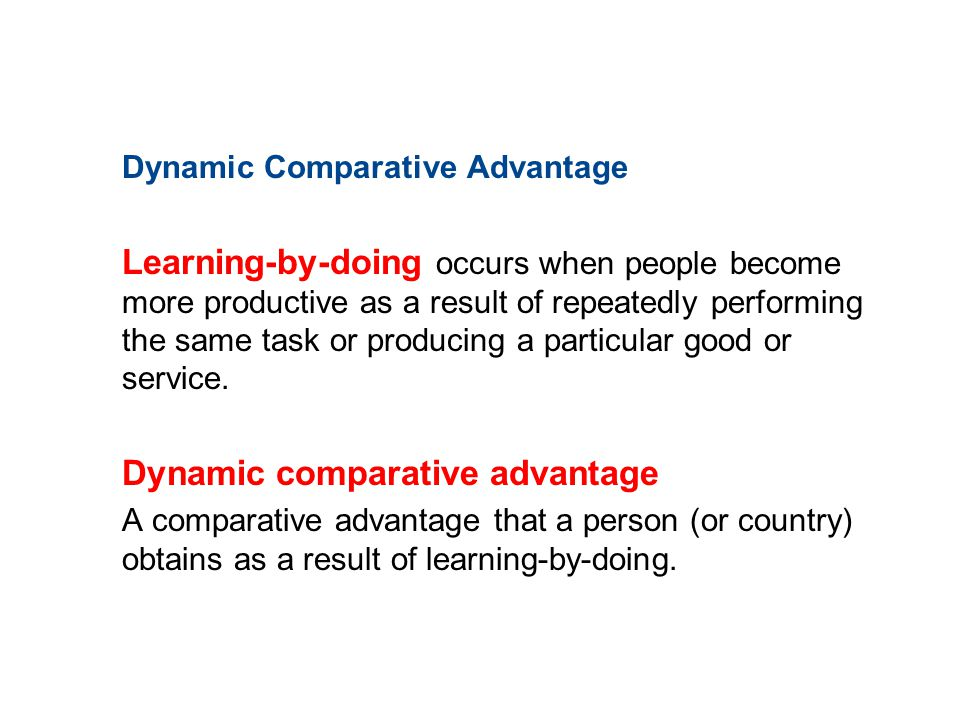 Dynamic comparative advantage