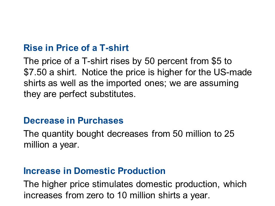 19.3 TRADE RESTRICTIONS Rise in Price of a T-shirt