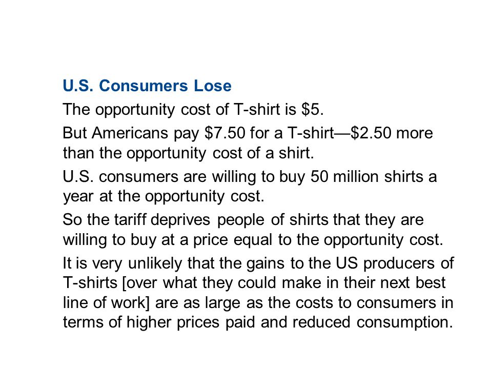 19.3 TRADE RESTRICTIONS U.S. Consumers Lose